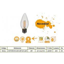 ANTORCHA LED 4W E27 3000K