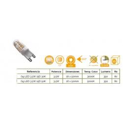 G9 LED 3,5W 3000K
