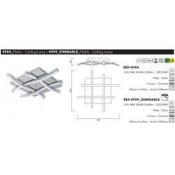 PLAFON NUR-34W-2600Lm-3000K   DIMABLE