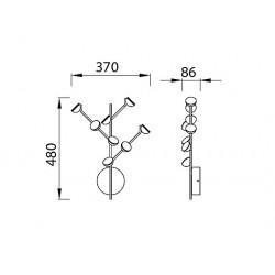 APLIQUE ADN 1-2-8-16 LUCES LED 3W