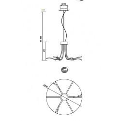 LAMPARA CORINTO-60W - 80W