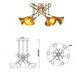 LAMPARA JAZZ 6 LUCES