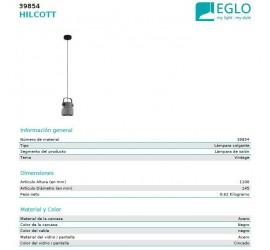 Lámpara colgante HILCOTT 1xE27/40W/230V