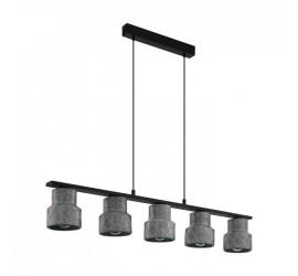 Lámpara colgante HILCOTT 5xE27/40W/230V