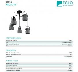 Lámpara de techo HILCOTT 5xE27/40W/230V