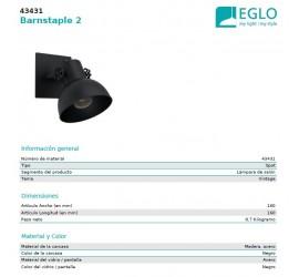 Foco BARNSTAPLE 1xE27/40W/230V