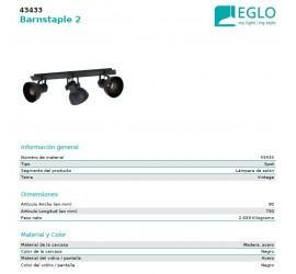 REGLETA BARNSTAPLE 3xE27/40W/230V