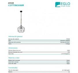Lámpara COTTINGHAM 370mm 1xE27/40W/230V