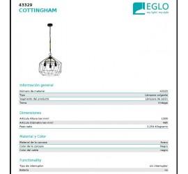 Lámpara COTTINGHAM 485mm 1xE27/40W/230V