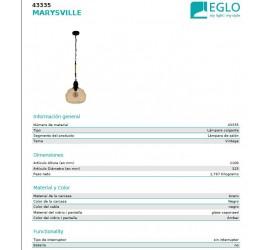 Lámpara MARYSVILLE 1x E27/40W/230V