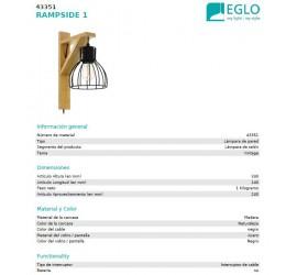 Aplique colgante RAMPSIDE 1x E27/40W/230V