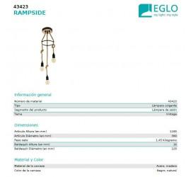 Lámpara RAMPSIDE 3x E27/40W/230V
