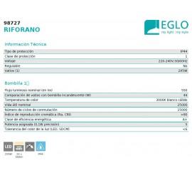 BALIZA/SOBREMURO LED RIFORANO 2X5W-1100Lm-3000K