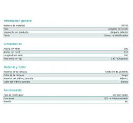 BALIZA/SOBREMURO LED NEMBRO 10W-900Lm-3000K