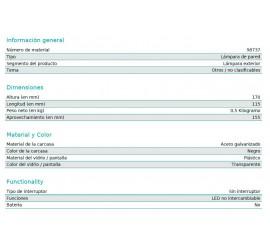 APLIQUE NEGRO LED PALOSCO 6W 500Lm-3000K