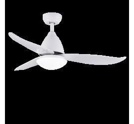 Ventilador Kona blanco con luz