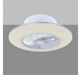 Ventilador Arashi blanco con luz led