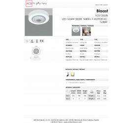 Ventilador Blaast blanco con luz led