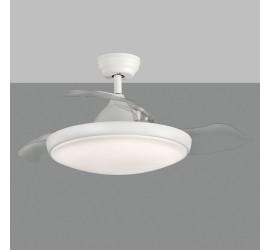 Ventilador Zonda blanco con luz led