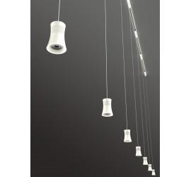 Lámpara LED 12.5W 3000K Pista Trifásica PAGODA Blanco